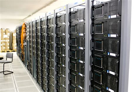server room racks within a server room at cern by