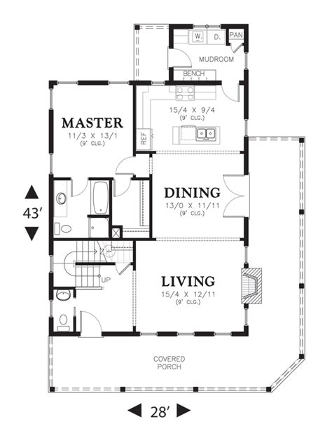 media room floor plans mascord house plan 21115 the osprey