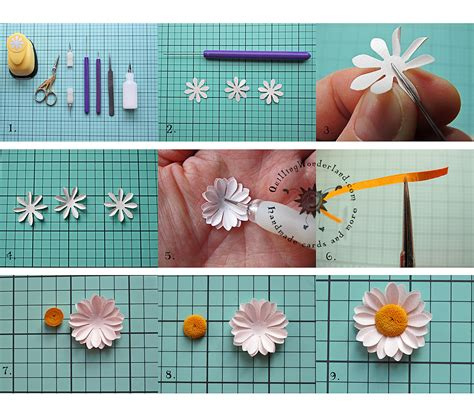 How To Make Paper Daisies - simple paper tutorial