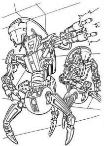 Droidekas Shooting Laser Gun in Star Wars Coloring Page   Download