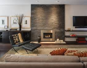 stone wall fireplace modern fireplace stone wall chair sofa home renovation