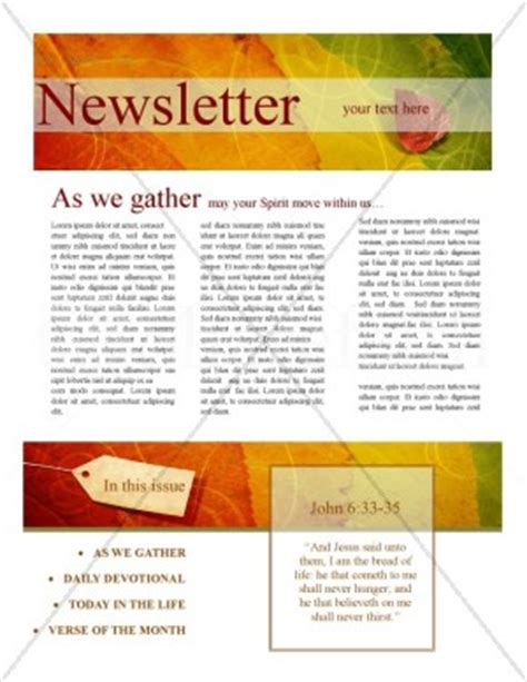 download layout buletin church newsletter templates template newsletter templates