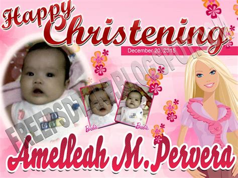 birthday tarpaulin layout design psd free psd chistening for tarpaulin 3x4 size free psd design