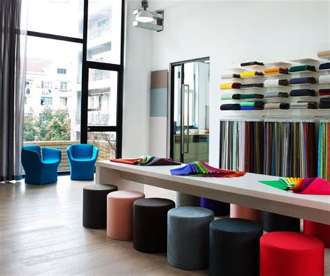 Curtain Spanish by Kvadrat Shanghai Showroom Relaunch Indesignlive