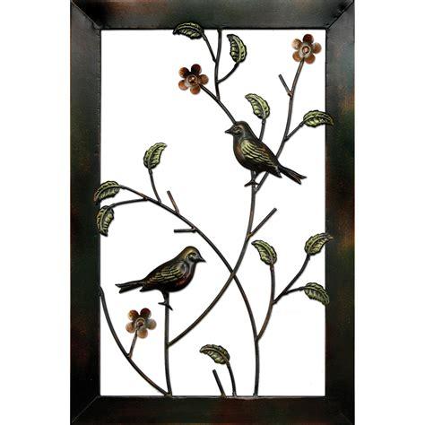 metal bird framed wall decor