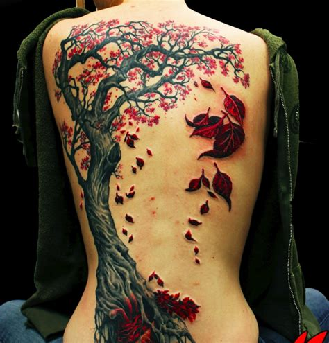 red tree tattoo willow tree back tattoos www pixshark images