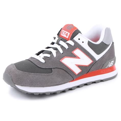 New Balance 574 Grey new balance 574 ml574cpo mens laced suede mesh trainers