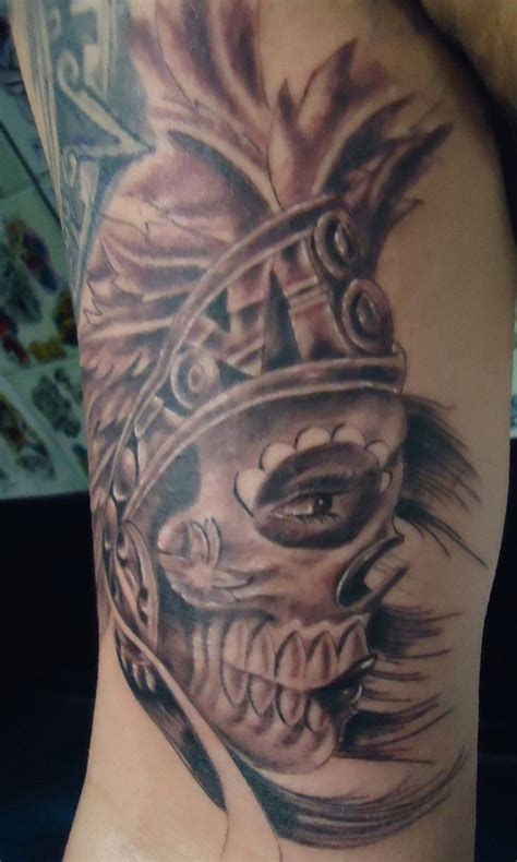 aztec warrior skull tattoo designs 50 unique aztec tattoos for amazing ideas