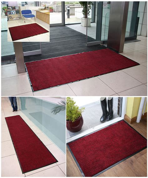 Office Rugs Commercial Washable Rubber Barrier Mats Non Slip Entrance