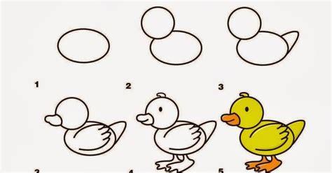 tutorial menggambar owl kerajinan anak tk sd langkah cara menggambar bebek