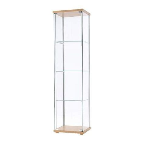 tallboy glass display cabinet beech