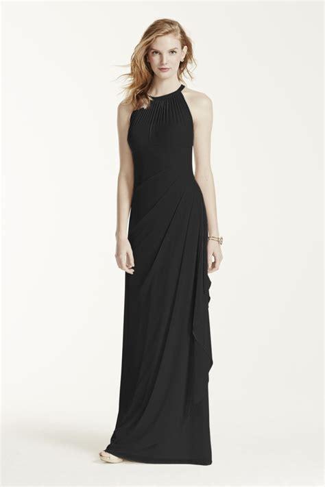 new bridesmaid dresses davids bridal new davids bridal long mesh dress with illusion neckline