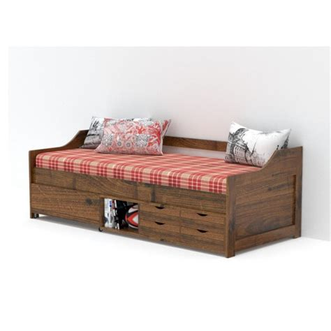 divan  storage natural finish wooden furniture