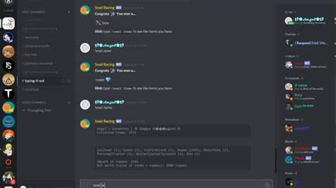 discord bot game snail racing on discord youtube