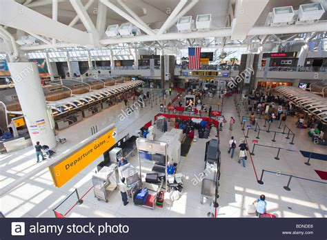 Cheapest City To Live In Usa by Inside Jfk International Airport In New York Stock Photo