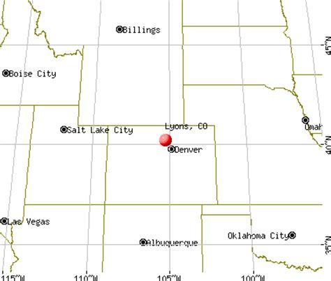 map of colorado lyons map lyons colorado my