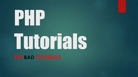 youtube tutorial php mysql tutorial 1 introduction to php youtube