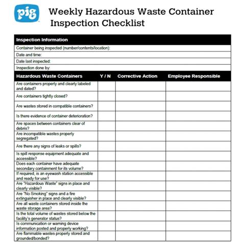 hazardous waste contingency plan template flammable cabinet inspection checklist cabinets matttroy