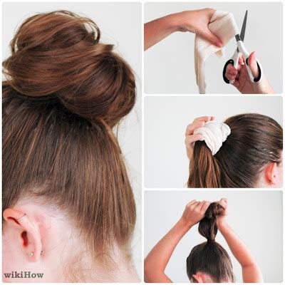 diy sock for bun foldover elastic diy 5 fast and easy ways to accentuate your hair