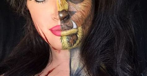 Makeup Makeover And The Beast this makeup artist gives your favorite disney characters a twisted makeover and the beast