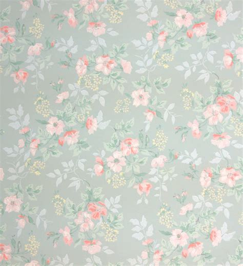 vintage style floral background with pink blooms royalty 1940 s vintage wallpaper little pink flowers by
