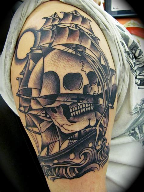 skull pirate tattoo design baby year inspiration quot pirate ships tattoos quot
