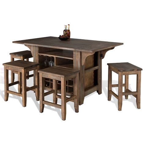 kitchen island table sets designs puebla 5 kitchen island with drop