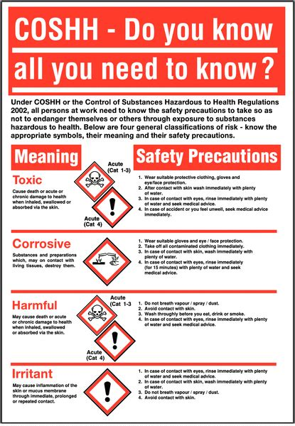 coshh amp ghs posters coshh amp ghs safety signs safety