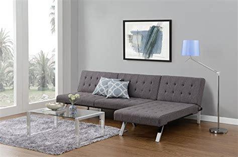 emily convertible futon gray linen dhp emily futon sofa bed modern convertible with