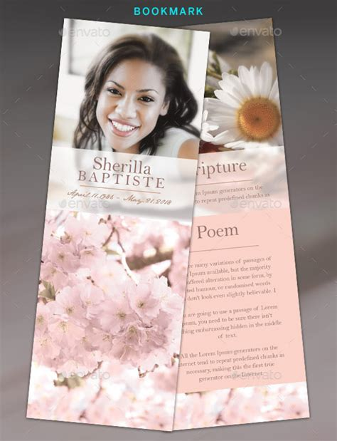 funeral bookmarks template free 15 funeral bookmark templates psd vector eps free