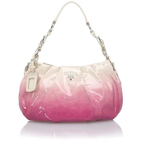 Prada Crispy Hobo Handbag by Prada Ombre Patent Leather Small Hobo Handbag