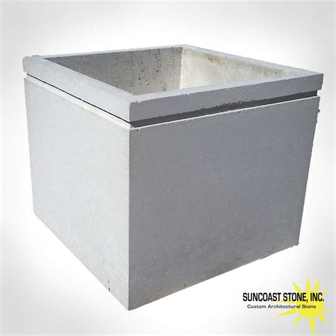 Pot11 Large Square Concrete Planter For Tree 3 Foot Tall Large Square Planters