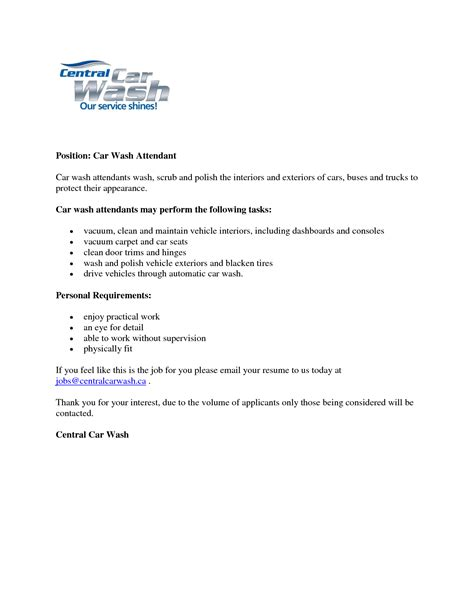 car wash resume 28 images car sale agreement contract
