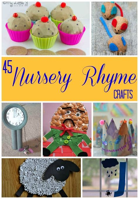 kindergarten themes nursery rhymes 45 nursery rhyme crafts nursery rhyme crafts for kids