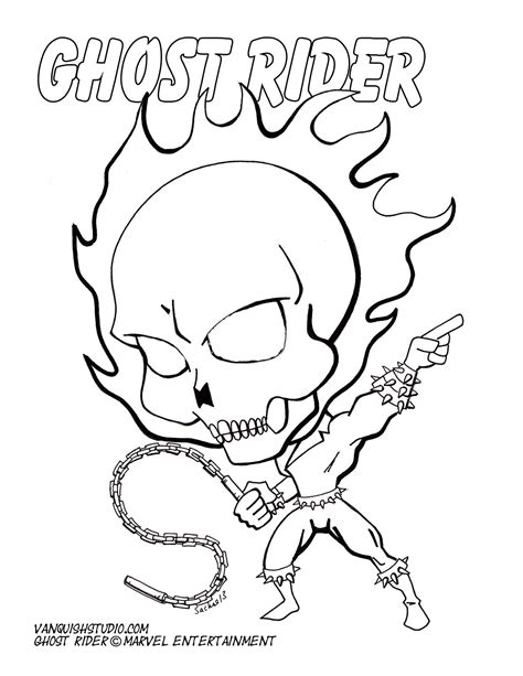 coloring pages ghost rider coloring pages vanquish studio