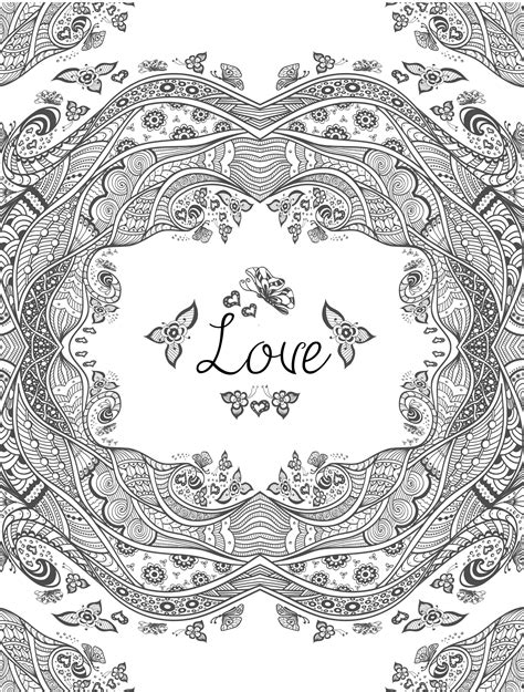 20 free printable valentines adult coloring pages page 3