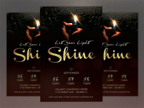 shine church flyer poster photoshop flyer templates