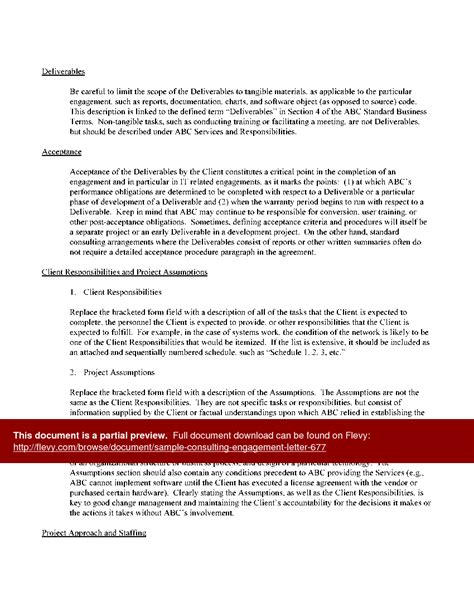 Letter Of Agreement Consulting Services sle engagement letter for consulting services letters