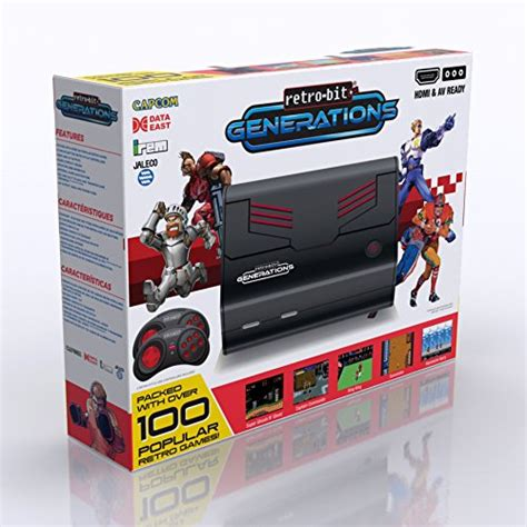 retro bit generations plug  play game console redblack   retro games buy
