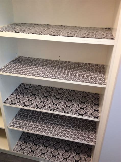 kitchen cabinet paper liner my new pantry shelves lined with wrapping paper from