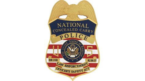 Conceal Carry Badge - HR 218 Badge | Officer.com Leosa Police