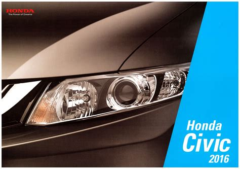 old car manuals online 2001 honda civic electronic toll collection 2016 honda civic brochure