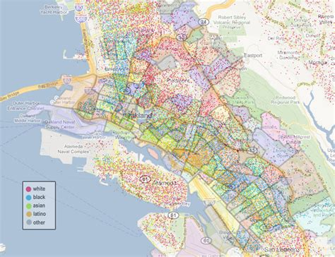 oakland map our oakland oakland by race ethnicity