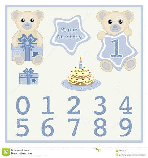 Lazy Boy Gift Card - baby boy birthday card gift card birthday cake and candle vector cute baby boy bears