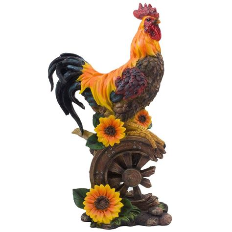 rooster and sunflower kitchen decor theme