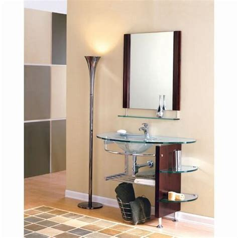bathroom vanity with shelves bathroom design in glass glass bathroom shelves glass