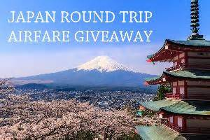 contest win trip airfare to japan