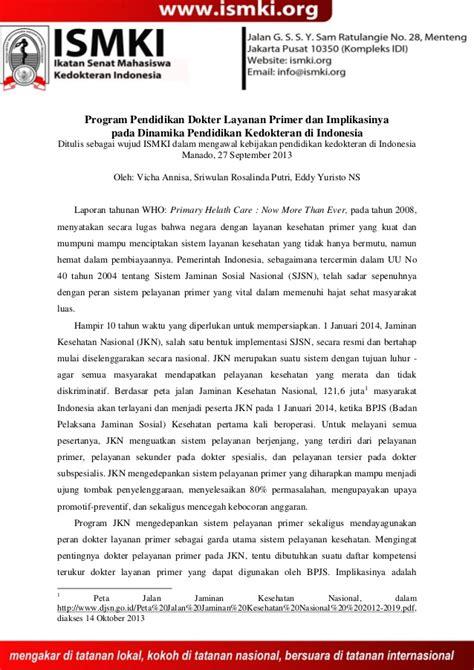 Dokter Layanan Aborsi Sumatra Kajian Dokter Layanan Primer Oleh Ismki