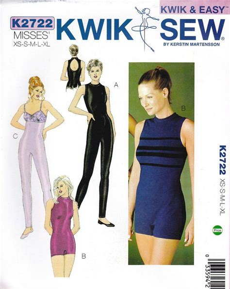 unitard pattern pdf kwik sew pattern 2722 unitard leotard yoga dance costume