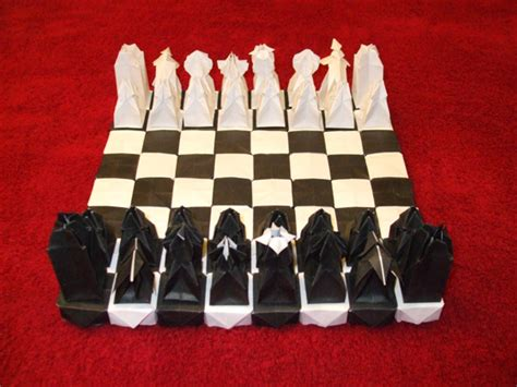 Origami Chess Set - original design unique chess sets chess
